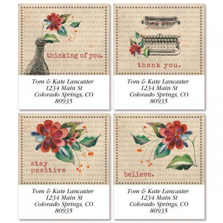 Sincerely Select Return Address Labels  (4 Designs)
