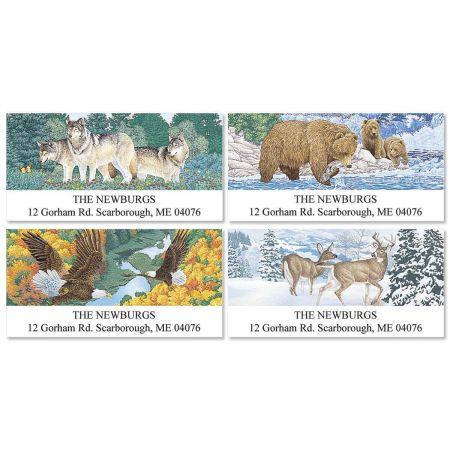 American Wildlife Deluxe Return Address Labels  (4 Designs)