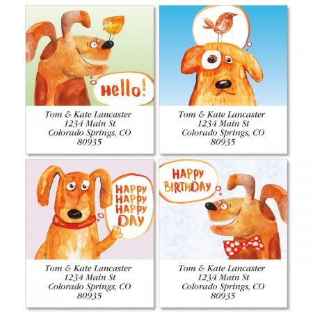 Nice Puppy Select Return Address Labels  (4 Designs)