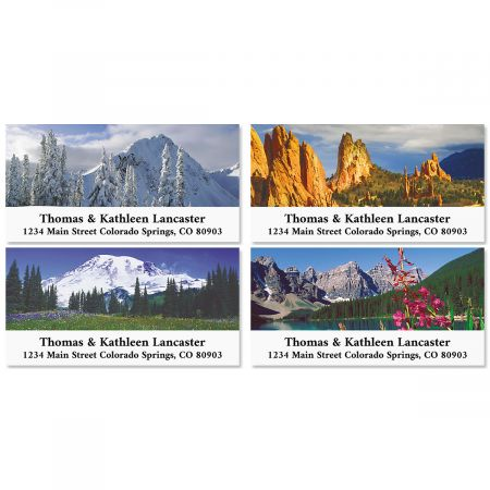Rocky Landscapes Deluxe Return Address Labels (4 Designs)