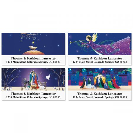 Beautiful Bethlehem Deluxe Return Address Labels (4 Designs)