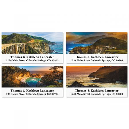Big Sur Deluxe Return Address Labels (4 Designs)