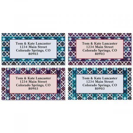 Indo Border Return Address Labels (4 Designs)