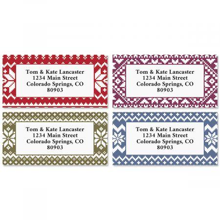 Sweater Weather Border Return Address Labels (4 Designs)