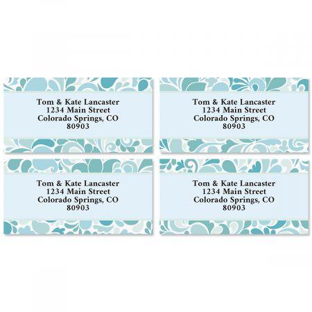 Blue Sensation Border Return Address Labels (4 Designs)
