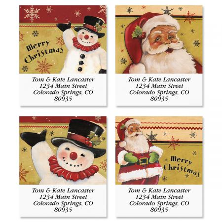 Traditional Christmas Select Address Labels (4 Designs)