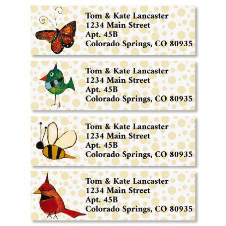 Backyard Wings Classic Return Address Labels (4 Designs)