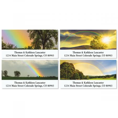 country rainbows deluxe address labels colorful images