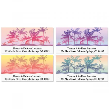 Tropical Palms Deluxe Return Address Labels (4 Designs)