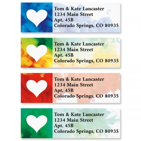Colorful Love Classic Return Address Labels (4 Designs)