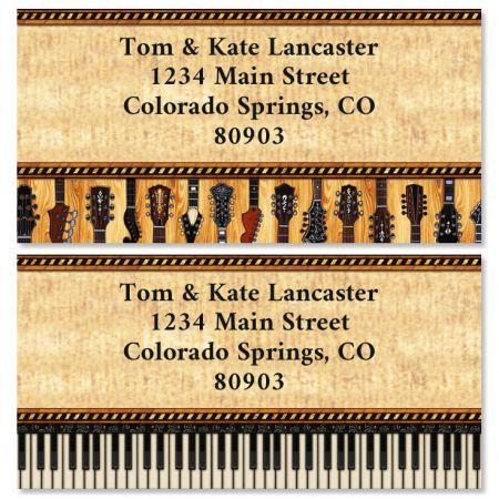 Encore Border Return Address Labels (2 Designs)
