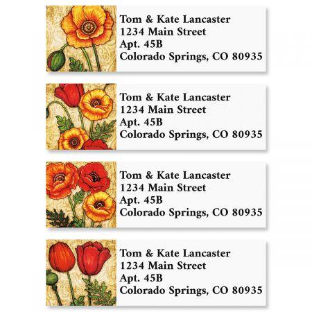 In Bloom Classic Return Address Labels (4 Designs)
