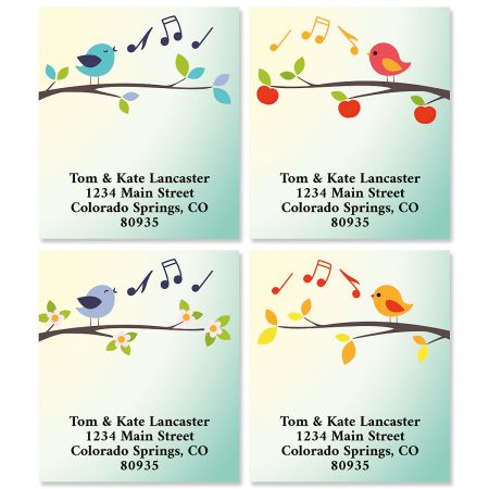 Sweet Tweets Select Return Address Labels (4 Designs)