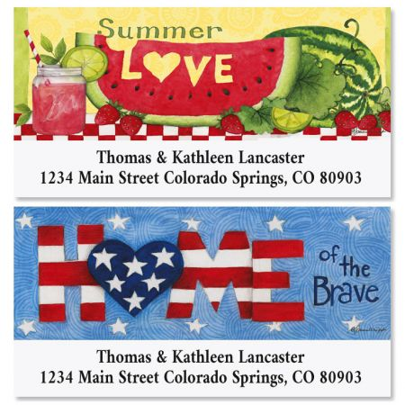 Summer Love Valentines Deluxe Return Address Labels (2 Designs)