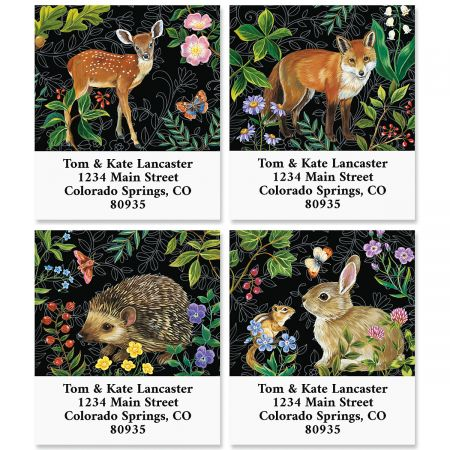 Animals in the Forest Select Return Address Labels (4 Designs)