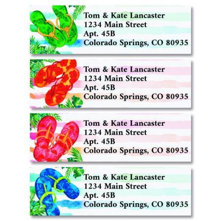 Tropical Flip Flops Classic Return Address Labels (4 Designs)