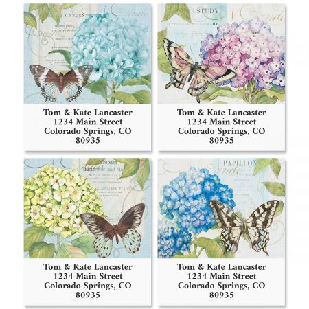 Hydrangea Nature Select Return Address Labels (4 Designs)