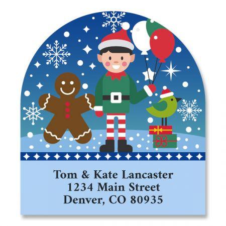 Christmas Friends Diecut Return Address Labels (6 Designs)