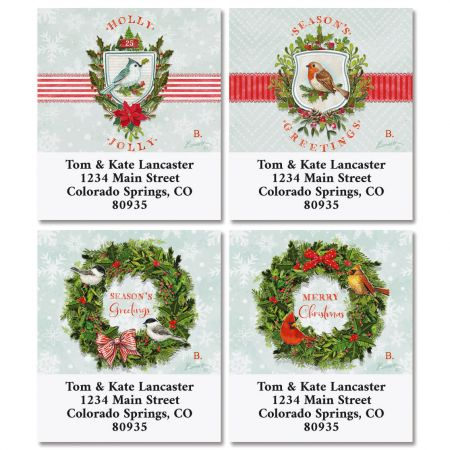 Holiday Wishes Select Return Address Labels (4 Designs)