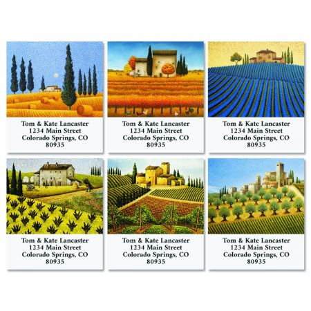 Tuscany Select Return Address Labels (6 Designs)