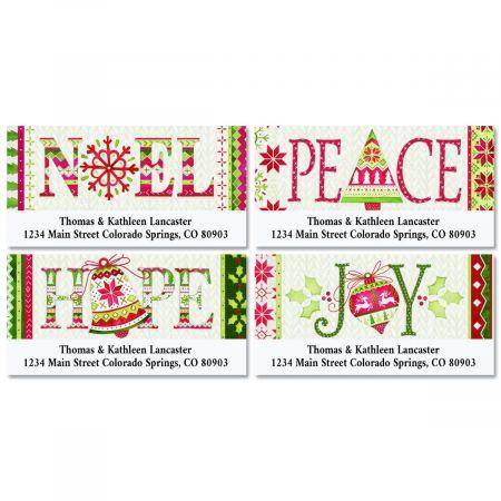 Christmas Address Labels.Nordic Noel Deluxe Christmas Address Labels 4 Designs