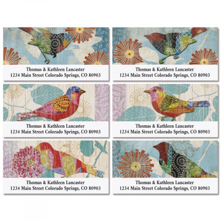 Brilliant Birds Deluxe Address Labels (6 Designs)