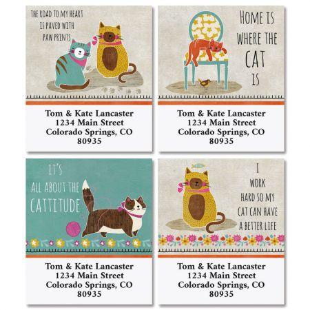 Crazy Cats Select Return Address Labels (4 Designs)