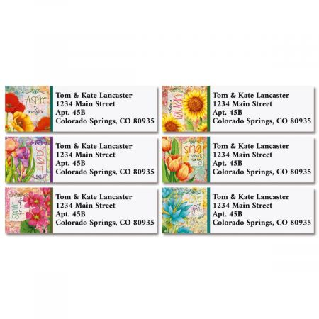 Garden Wisdom Classic Return Address Labels (6 Designs)