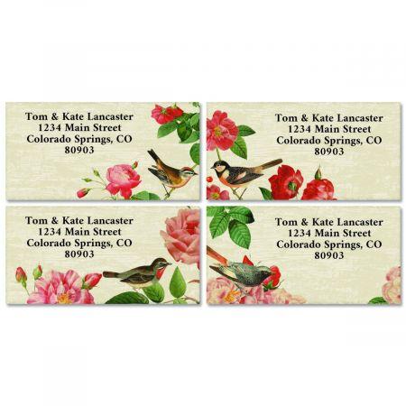 Bramble Bird Border Return Address Labels (4 Designs)