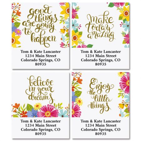 Be Inspired Select Return Address Labels  (4 Designs)
