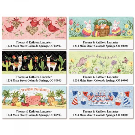 Spring Into Summer Deluxe Return Address Labels (6 Designs)