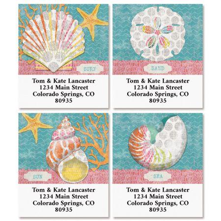 Tropical Sea Select Return Address Labels (4 Designs)