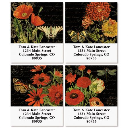 Wildflower Walk Select Return Address Labels (4 Designs)