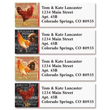 Flew the Coop Classic Return Address Labels (4 Designs)