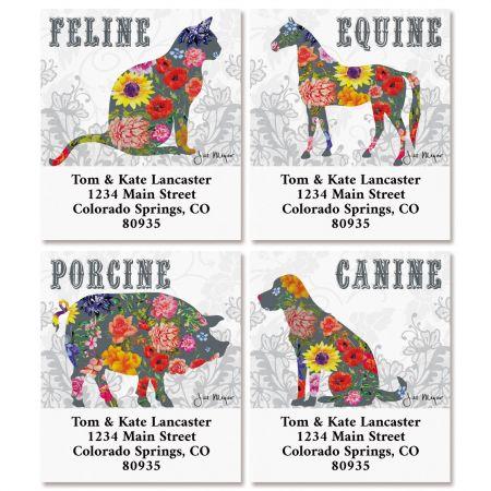 County Fair select Return Address Labels (4 Designs)
