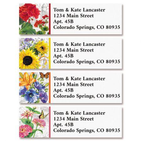 Vintage Botanicals Classic Return Address Labels (4 Designs)