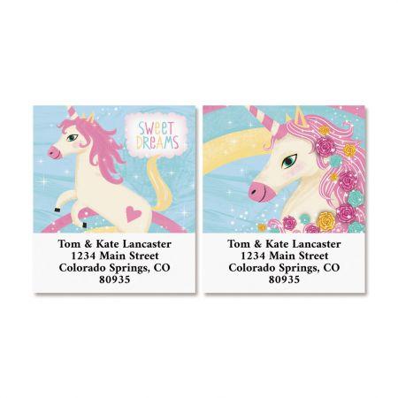 Happy Unicorn Select Return Address Labels (2 Designs)