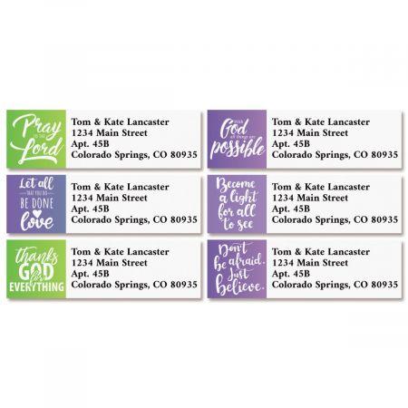 Faithful Classic Return Address Labels (6 Designs)