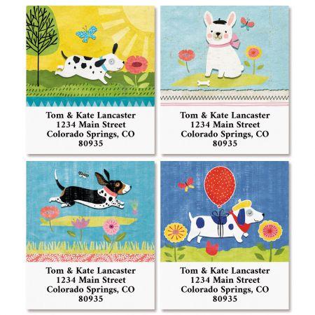 Dog Gone Cute Select Return Address Labels (4 Designs)