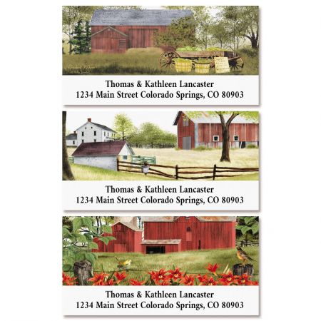 Country Barns Deluxe Return Address Labels (3 Designs)