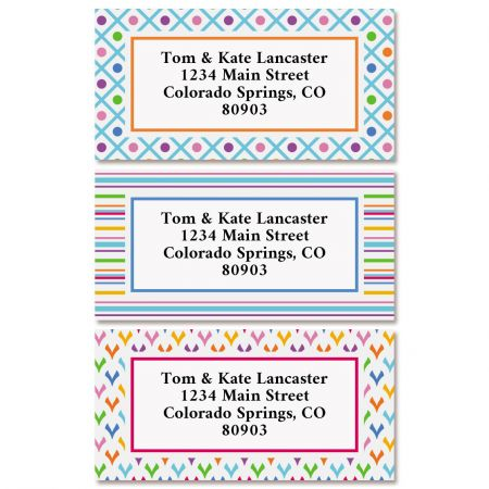 Zippy Border Return Address Labels