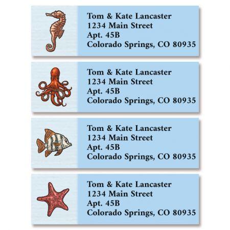 Sea Animals Classic Return Address Labels (4 Designs)