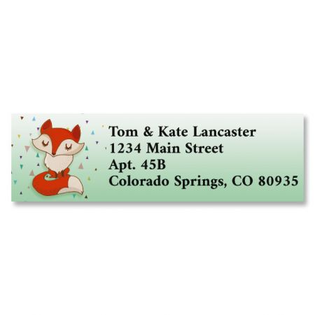 Foxy Classic Return Address Labels (6 Designs)