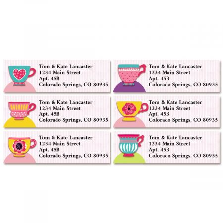 Tea Party Classic Return Address Labels (6 Designs)