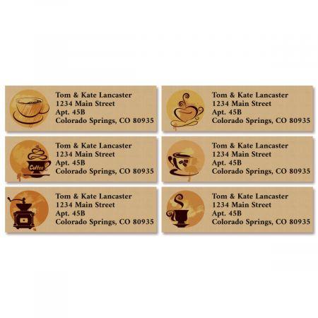 Coffee Classic Return Address Labels (6 Designs)