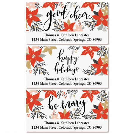 Holiday Greetings Deluxe Return Address Labels (3 Designs)