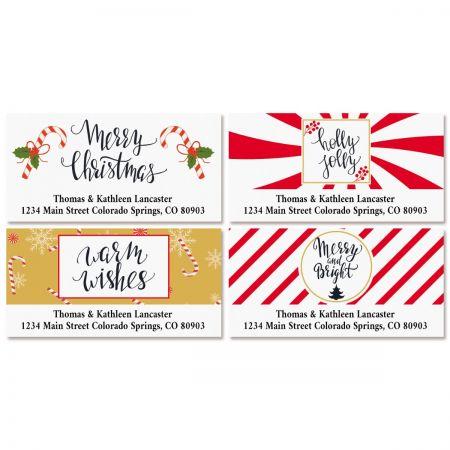 Merry & Modern Deluxe Return Address Labels (4 Designs)