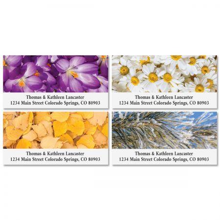 4 Seasons Deluxe Return Address Labels (4 Designs)