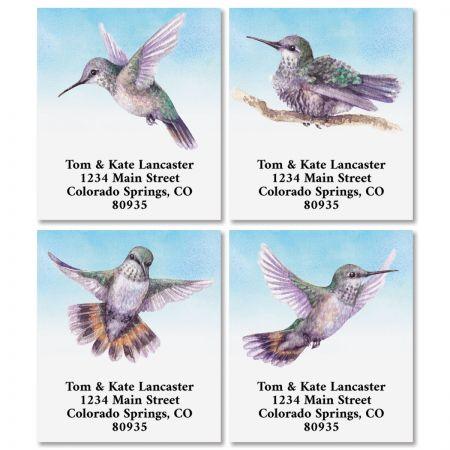 Sweet Hummingbirds Select Return Address Labels (4 Designs)