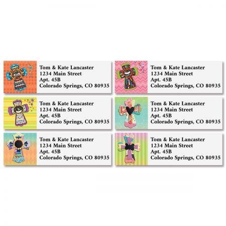 Colorful Crosses Classic Return Address Labels (4 Designs)